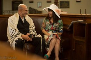 On Set of the Feature Blue Grace. In the role of an Orthodox Jew Everlyn (Yiddish accent)